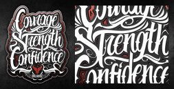 BIG GUNZ CLOTHING TYPOGRAPHY
