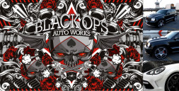 BLACK OPS AUTO WORKS VINYL WALL WRAP