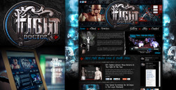 MMA FIGHT DOCTOR LOGO & WEBSITE
