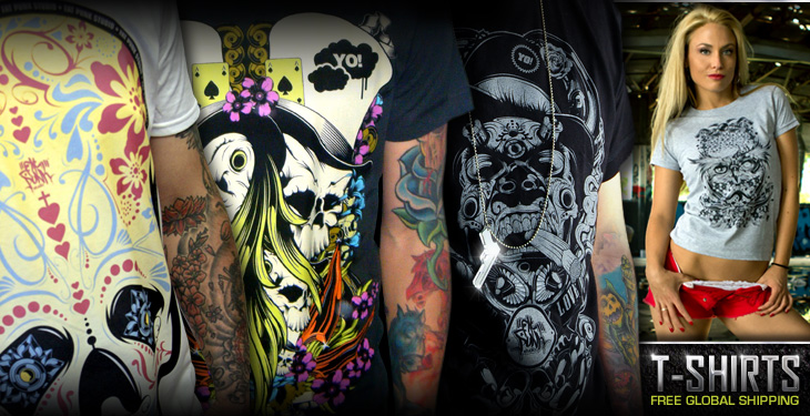 Fat Punk Studio's cool graphic t-shirts are available in both mens and womens sizes with free global shipping on all orders.