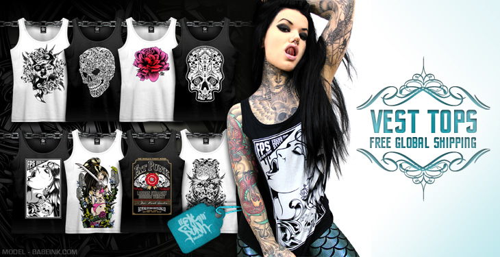 Explore the entire range of custom fat punk studio vest tops/singlets