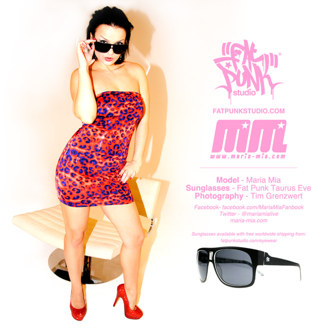 "Pornstar Maria Mia rocks her Fat Punk Studio ""Taurus Eve"" sunglasses"