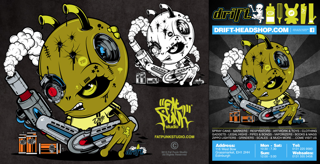 DRIFT CHARACTER DESIGN & ADVERT
