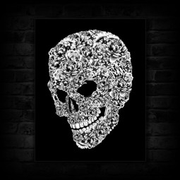01-flower-skull-canvas