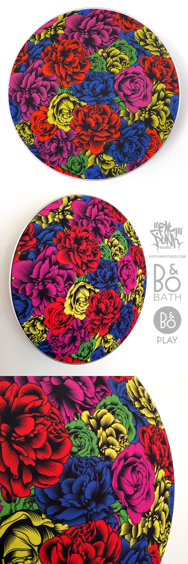 fat punk studio custom beoplay a9 flowers speaker