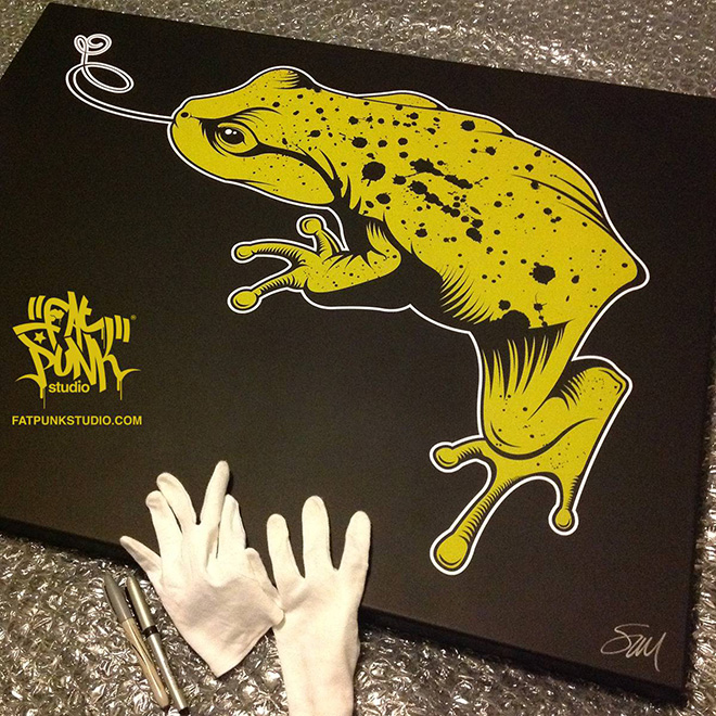 "Custom Fat Punk Studio ""Frog"" canvas art"