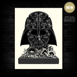 "Original Fat Punk Studio Star Wars ""Vader Still Life"" canvas. Signed Darth Vader art never looked so badass"