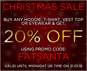 Fat Punk Studio 20% OFF all clothing and eyewear Christmas sale