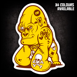 BABY GORILLA STICKERS