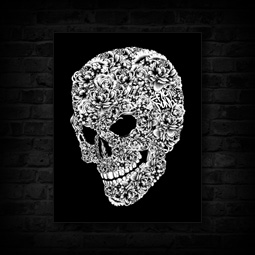 FLOWER SKULL CANVAS