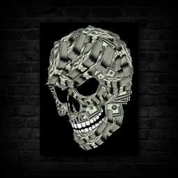 MONEY SKULL CANVAS