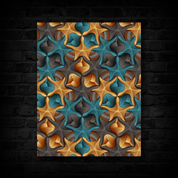 STARFISH & SHELLS CANVAS