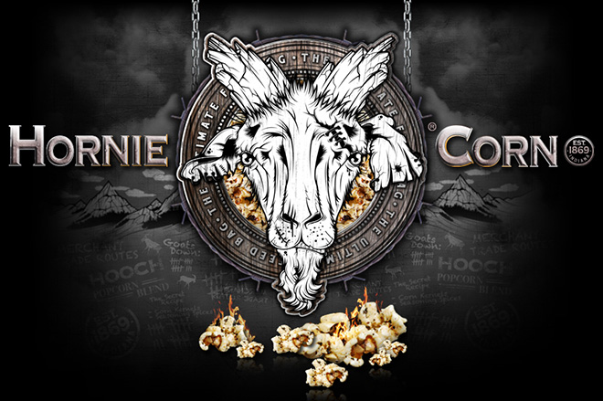 Badass website design and build for Hornie Corn popcorn. Brought to you by our award winning somerset based website design team.