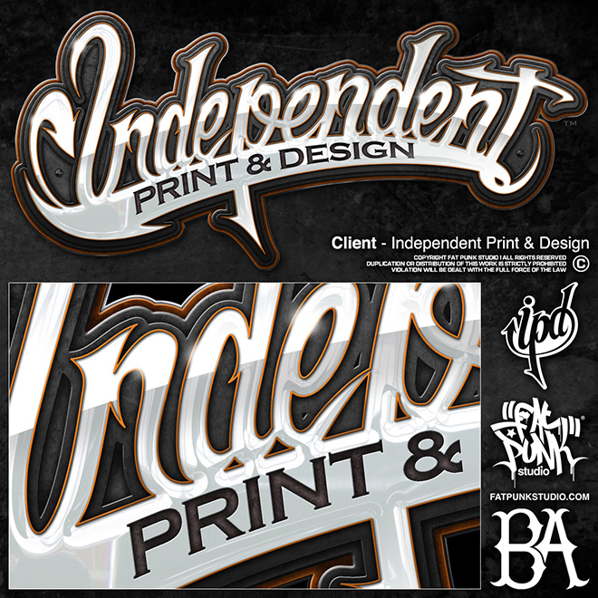 Logo design for Independent Print & Design. Get in touch with our Somerset design studio to discuss your project and let our talented team guide the creative process.