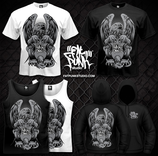 Fat Punk Studio Griffin art now available on T-shirts, vest tops and hoodies