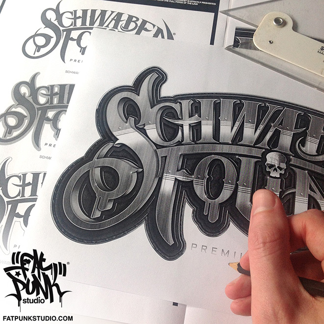 Custom logo development for Schwabenfolia premium wrapping germany