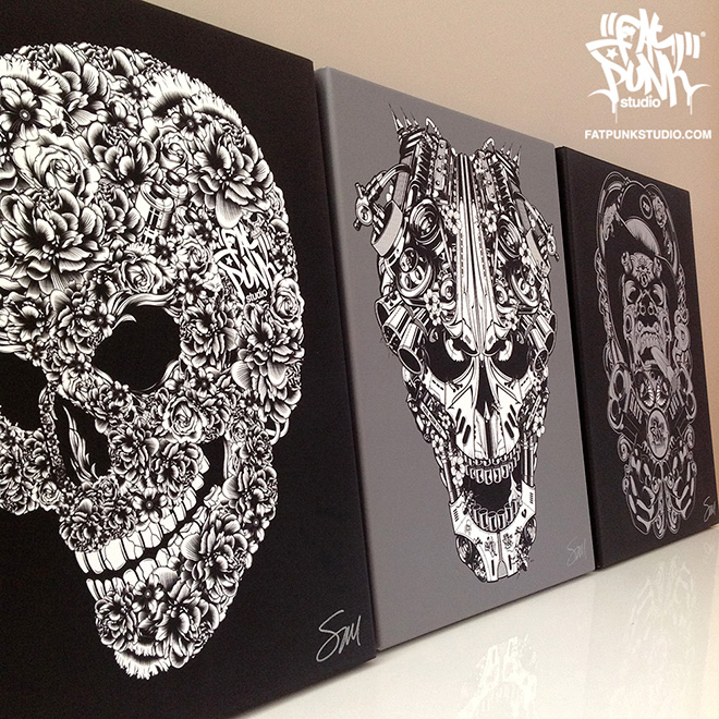 Signed Fat Punk Studio canvas art gets a new price point. Hang something unique from your walls.