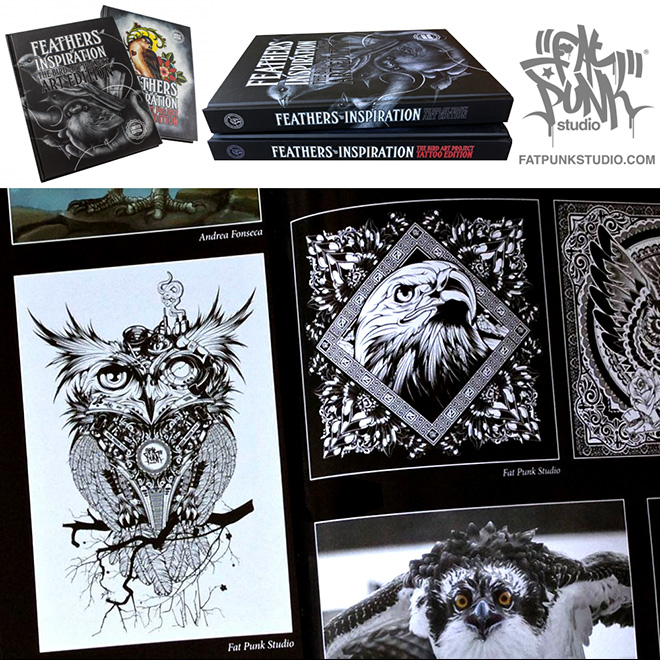 """Fat Punk Studio artwork featured in the gorgeous new """"Feathers of Inspiration"""" art book"""