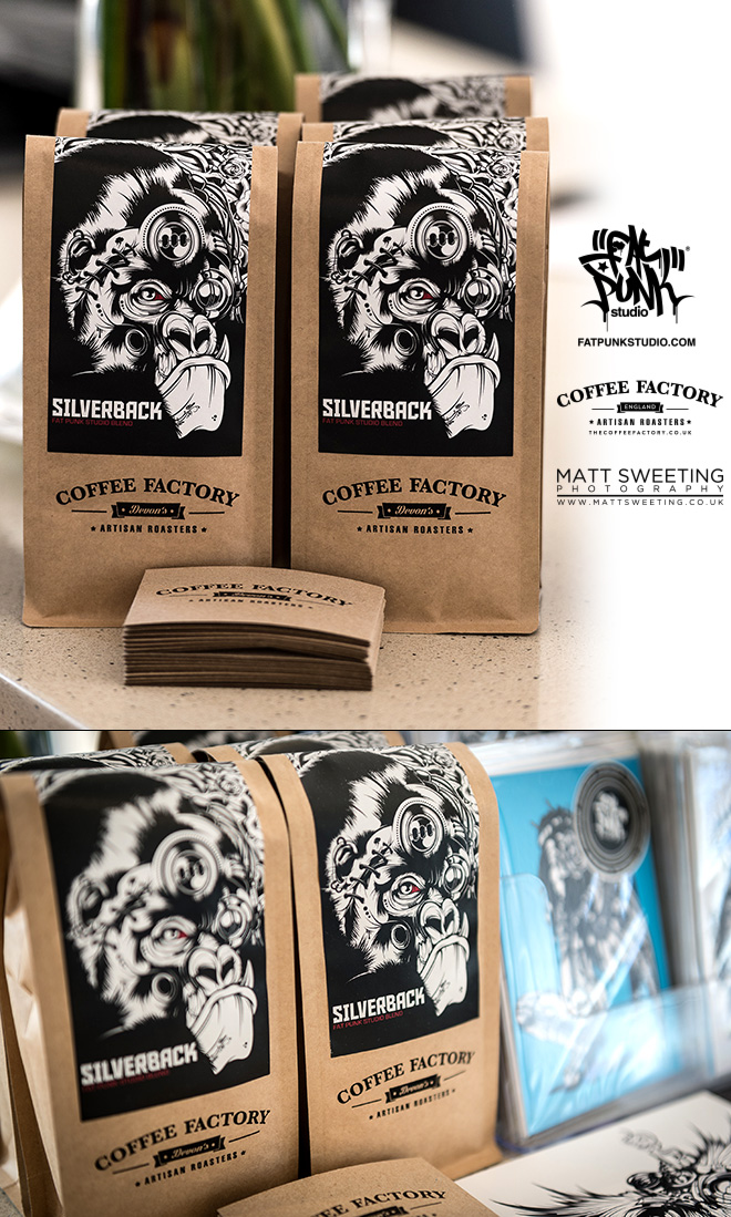 fat punk studio silverback coffee blend in collaboration with the coffee factory devon