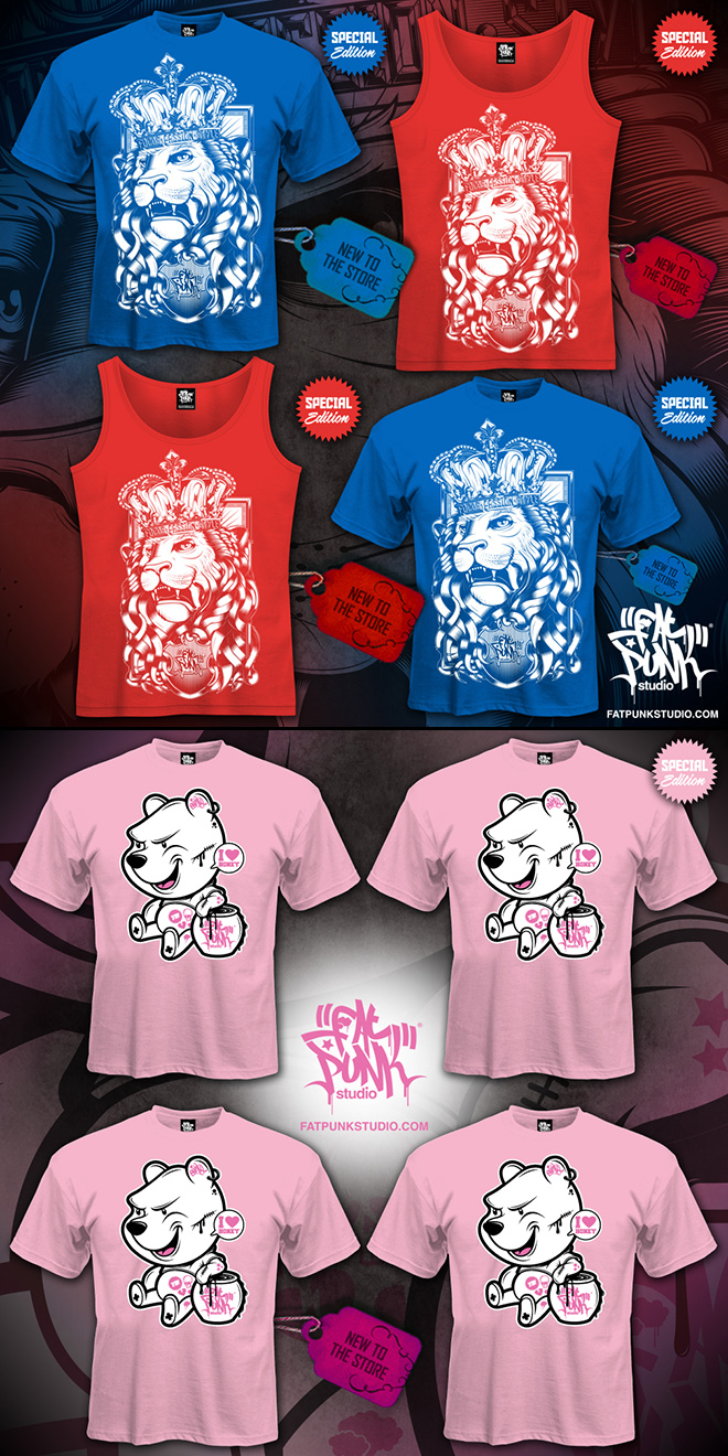 new special edition fat punk studio lion and pooh bear clothing lands in store