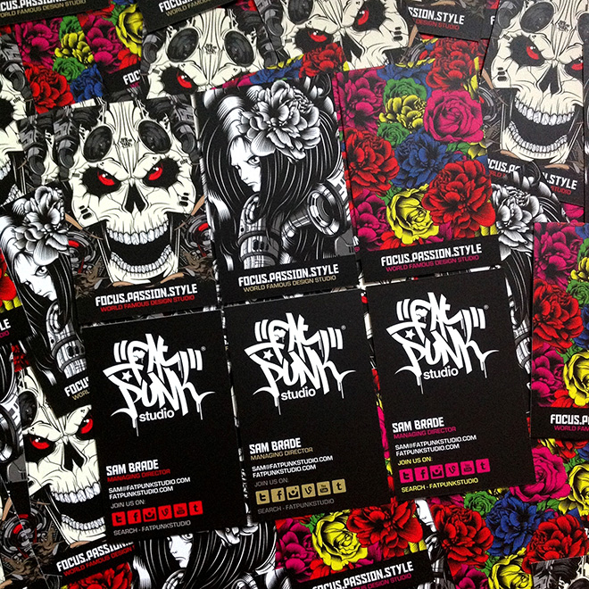 new fat punk studio business cards have landed