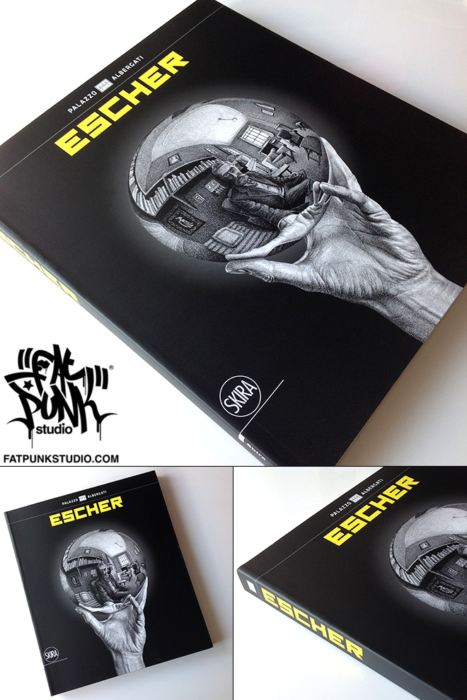 Fat Punk Studio (Sam Brade) artwork featured in the new Escher art book  which accompanies the current Bologna M.C.Escher exhibition in Italy. Work featured  5 fish and plane filling