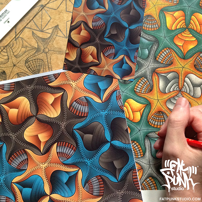 Custom BeoPlay A9 Starfish & Shells speaker cover by Fat Punk Studio