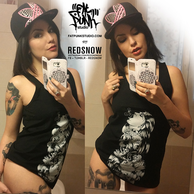 RedSnow - Gorgeous Italian alt model RedSnow rocks fat punk studio with smoking hot tattooed style.