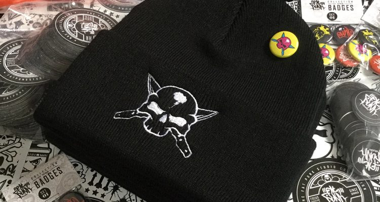 custom-embroidered-skull-and-cross-knives-beanie-01