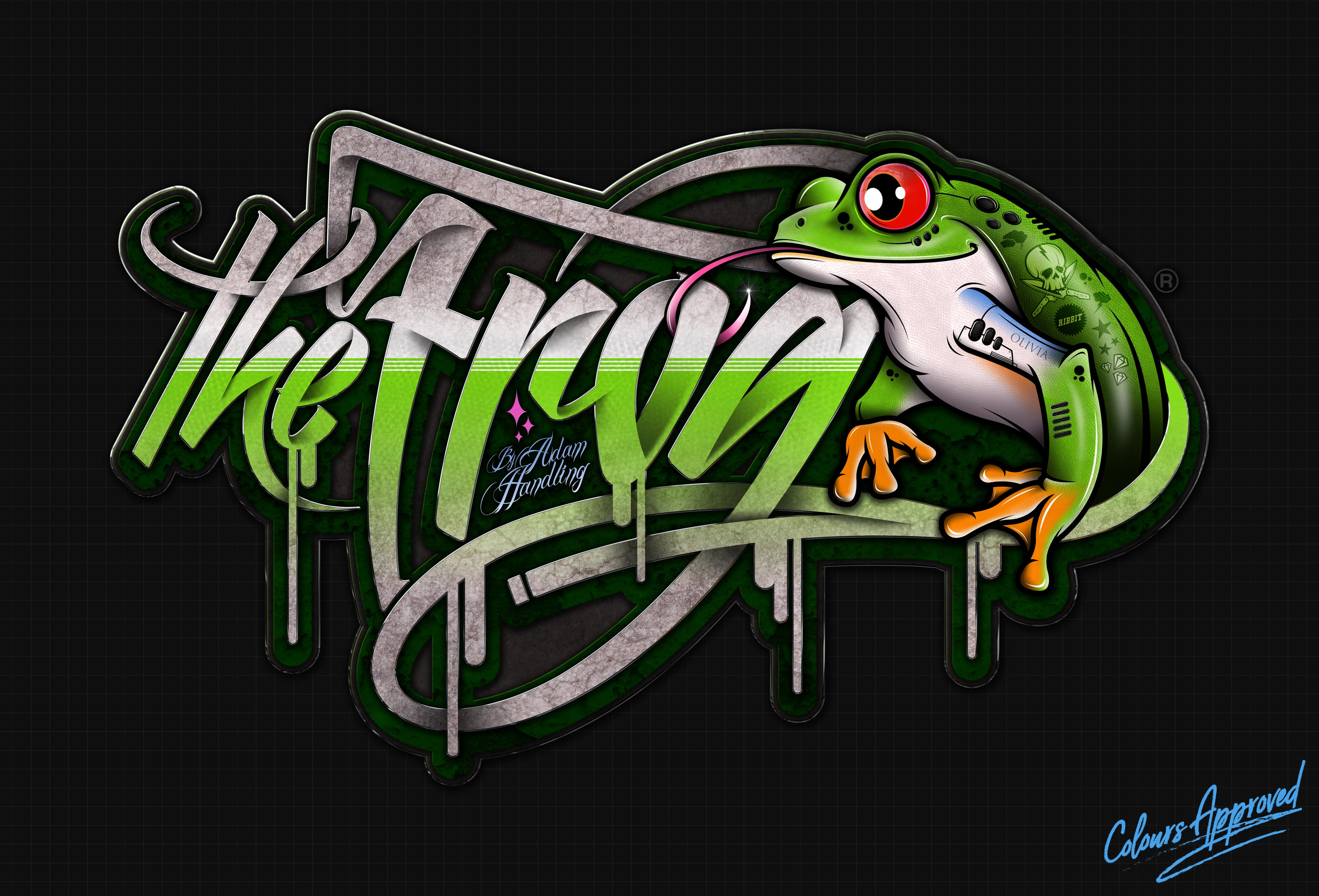 logo-design-the-frog-restaurant-adam-handling
