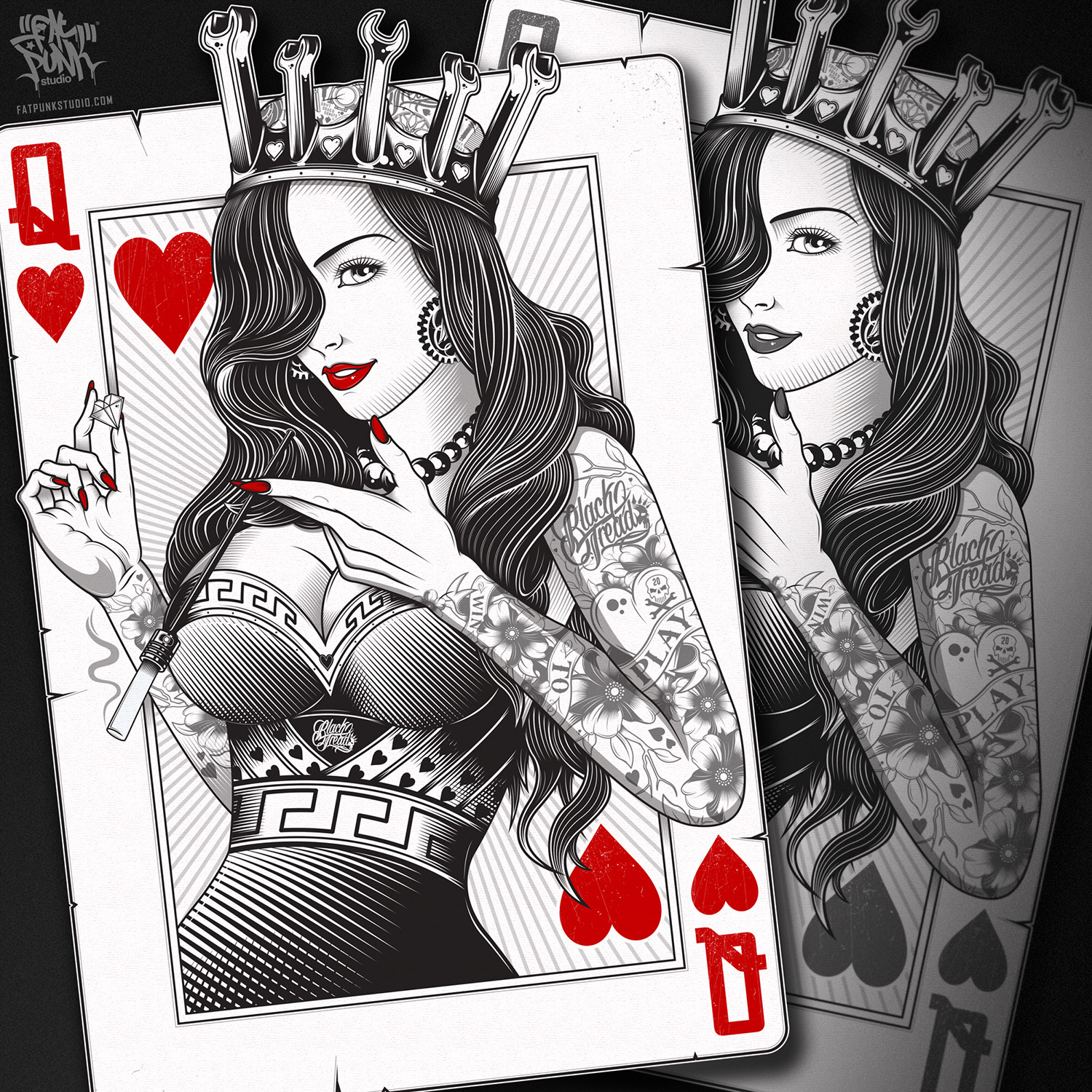 queen-of-hearts-playing-card-black-tread-fat-punk-studio-02