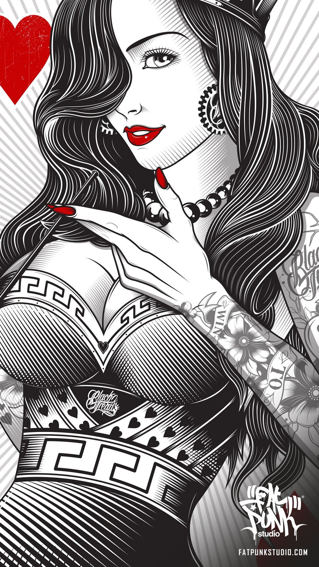 queen-of-hearts-playing-card-black-tread-fat-punk-studio-04